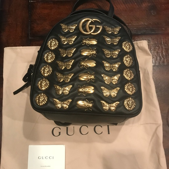 6be724fcf2225c Gucci Bags | Marmont Animal Studs Leather Backpack | Poshmark